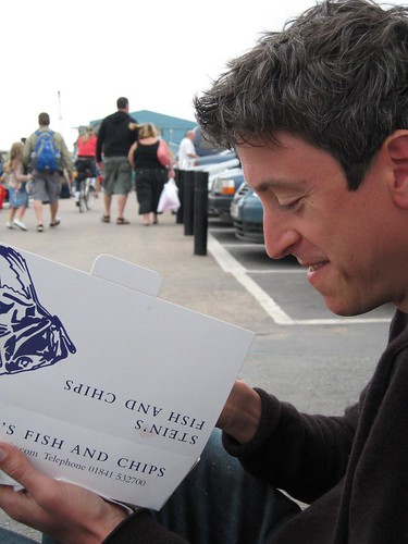 Rick Stein fish and chips in a carpark | by CamperGirl