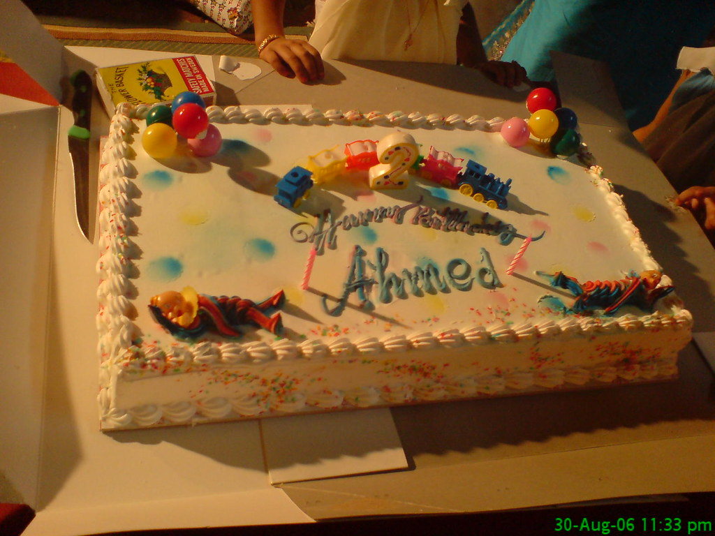 Birthday Message With Cake Picture