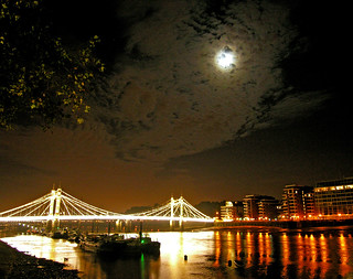 Albert Bridge and Moonlight | by Dave Gorman