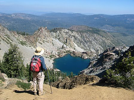 Young america lake seen on sierra buttes trail tahoe nati for Sierra fish in english