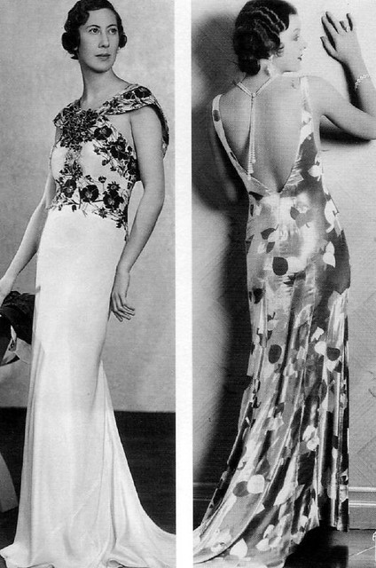 1930s Evening Wear With Myrna Loy Evening Dresses Of