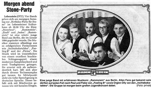 Rammstein in 1994, newspaper article | by Vortilogue