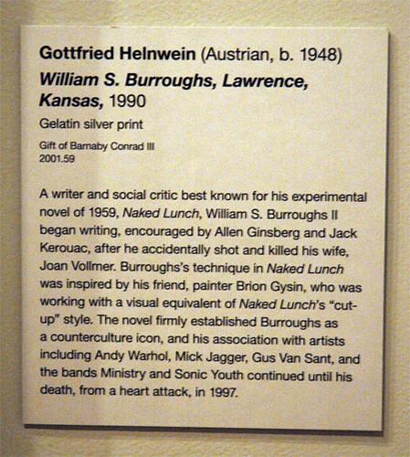 De young museum burroughs photograph label muesuem for Exhibit label template