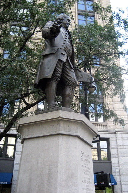 Nyc Printing House Square Benjamin Franklin Statue Flickr Photo Sharing