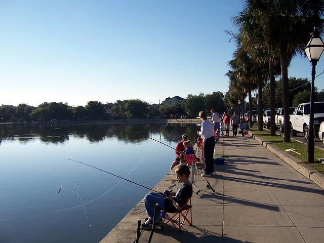 Huck finn kids fishing festival colonial lake downtown c for Fishing charleston sc