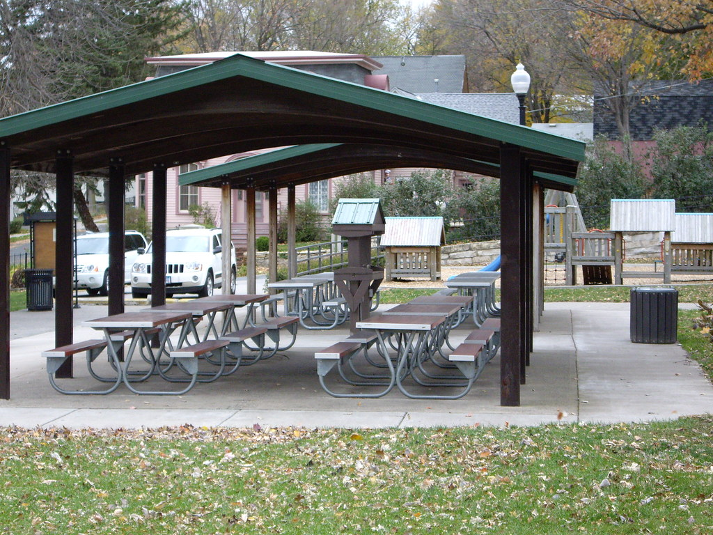 Covered Picnic Tables : Covered picnic table areas plenty of cover if we need