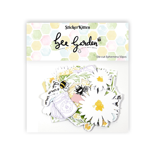 Bee Garden die-cut ephemera pack