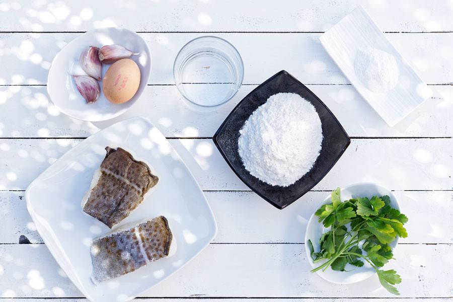 Ingredientes buñuelos de bacalao