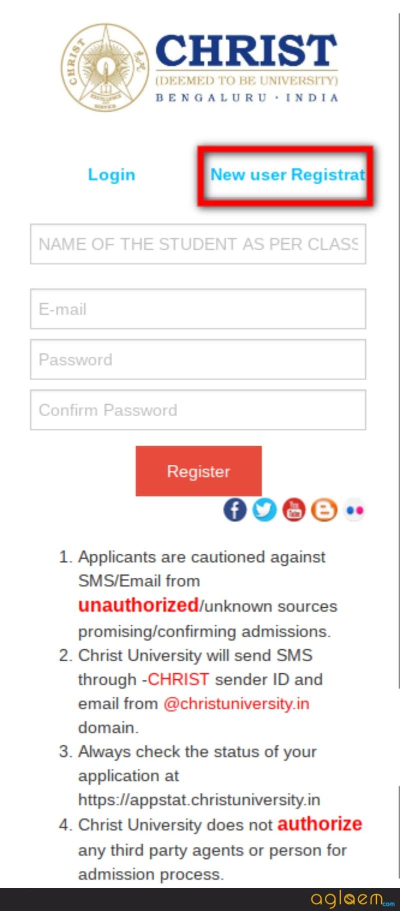 Christ University Law Application Form 2018