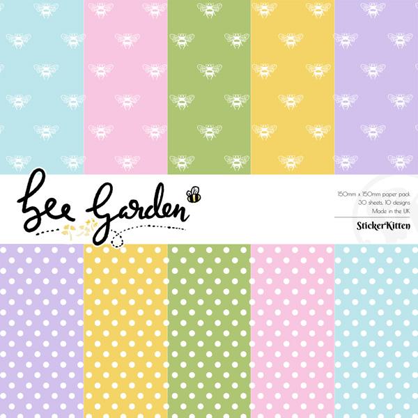 Bee Garden Basics paper pack