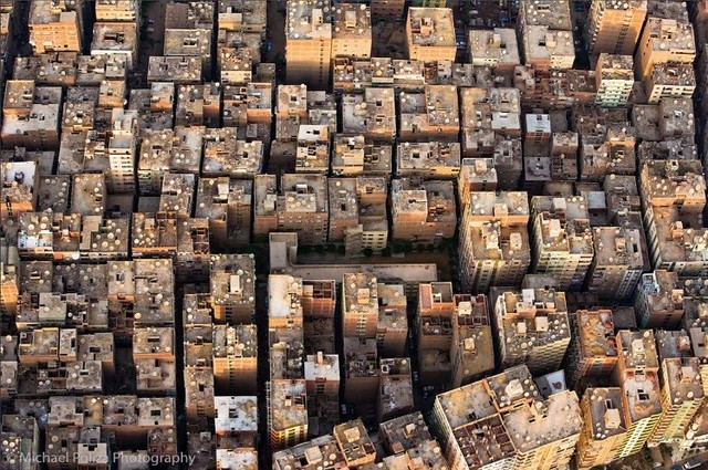 Cluster of buildings