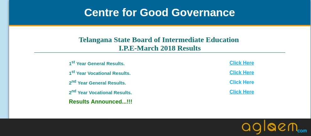 TSBIE Results 2018: Telangana Inter 1st Year, 2nd Year Results Announced