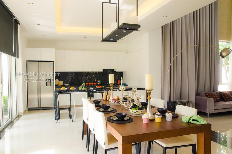 Phòng bếp nhà mẫu Biệt thự Villa Park