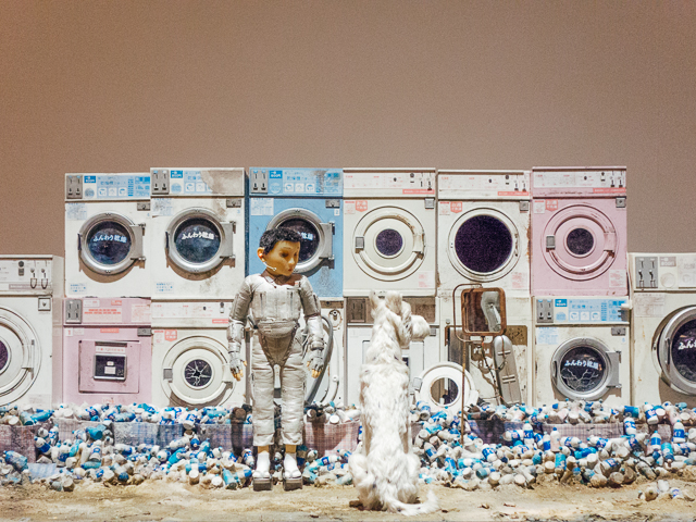 isle of dogs exhibition - pastel washing machines