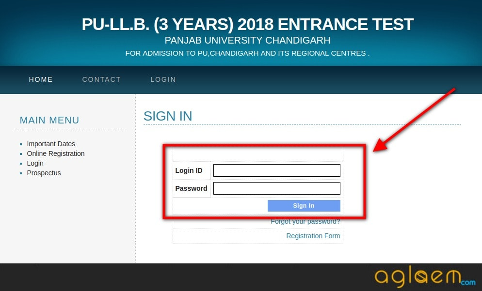 PU LLB 2018 Application Form