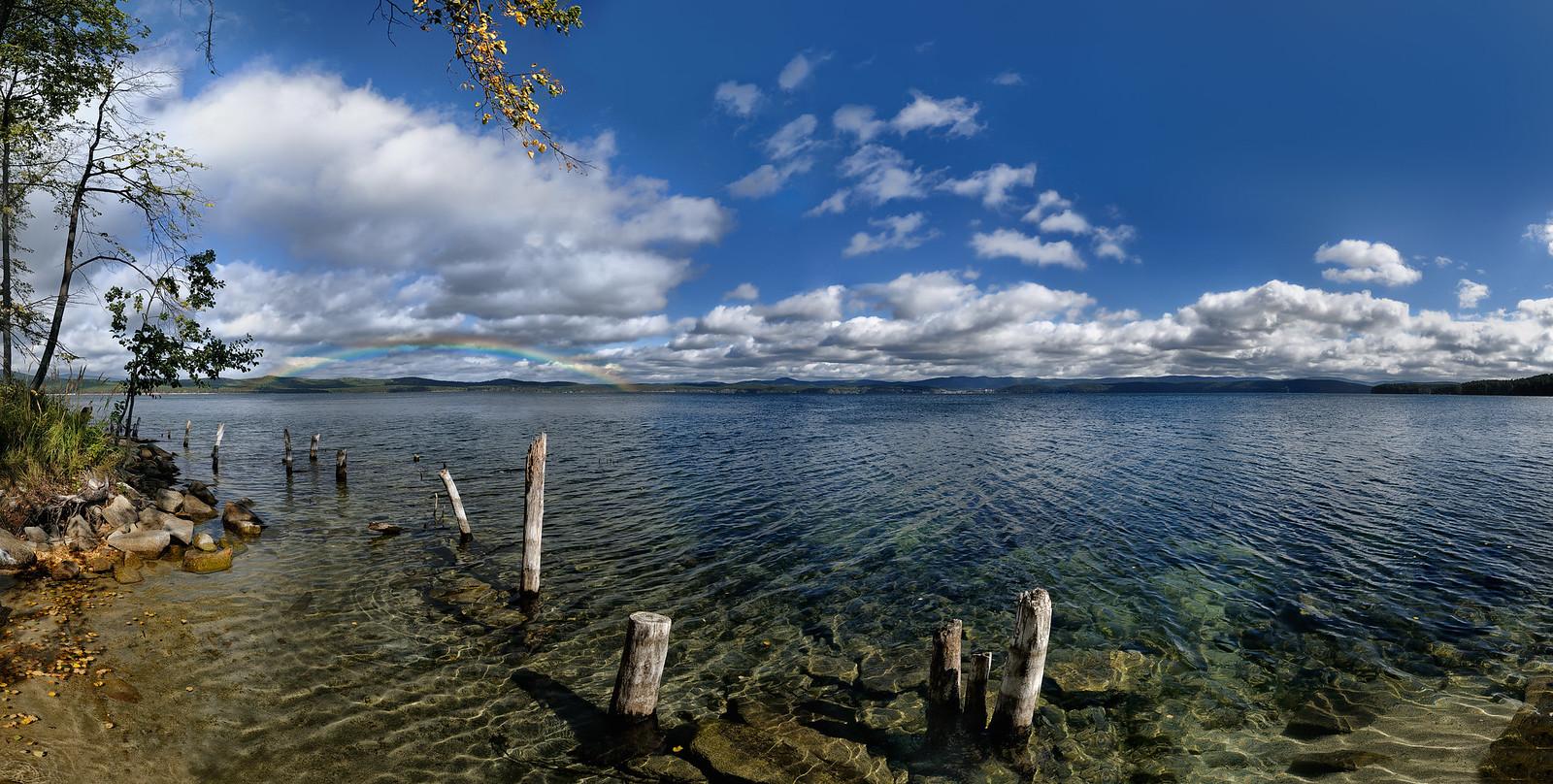 озеро Тургояк, осень, радуга - пейзажный фотограф Челябинск