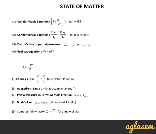 Important Notes of Chemistry for NEET, JEE: State of Matter