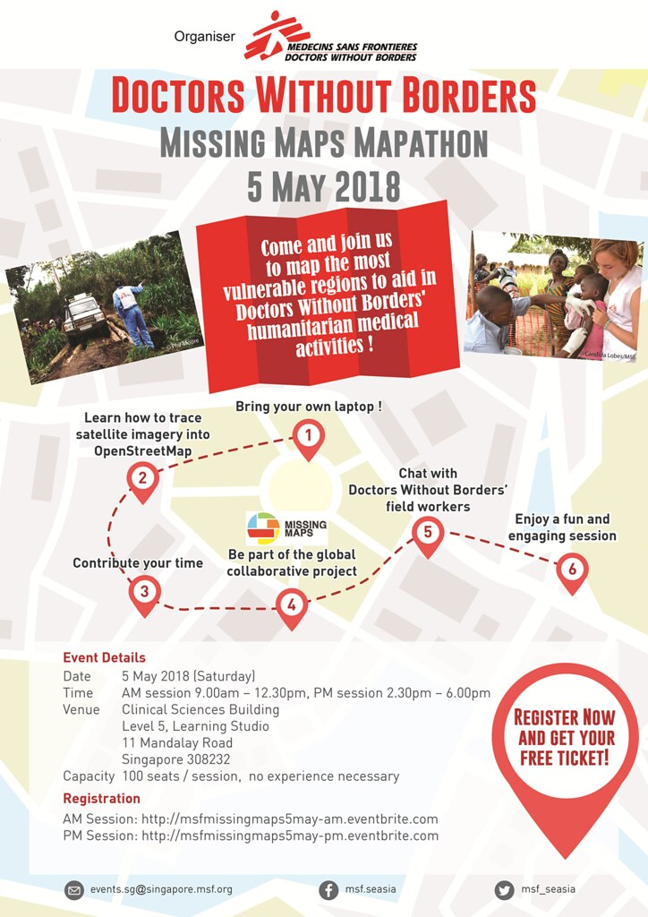 Doctors Without Borders Missing Maps Mapathon 5 May 2018
