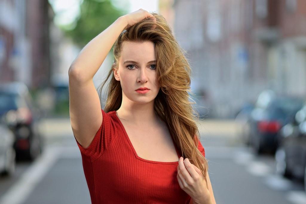 lady in red eddy gilette flickr