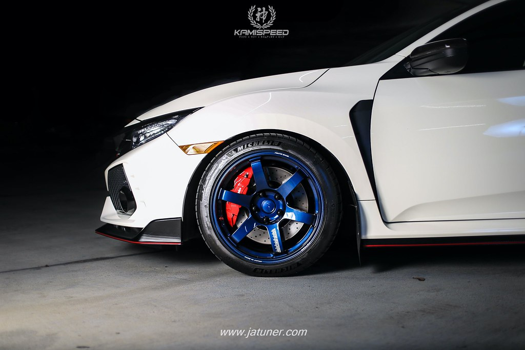 2018 Civic Type R >> Volk Racing TE37 SAGA - Civic Type R | Mag Blue on Champions… | Flickr