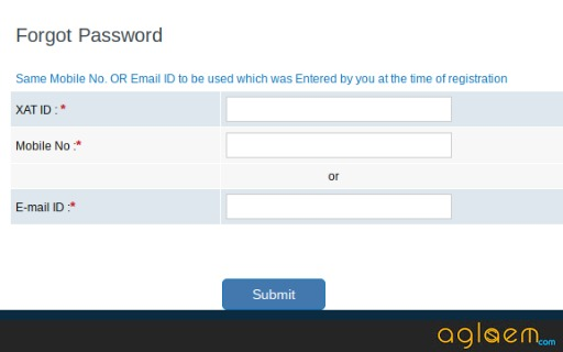XAT 2019 Password Recovery