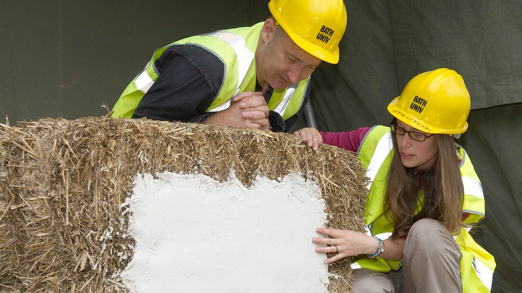 A team at Bath are working to certify low-impact straw bale buildings.