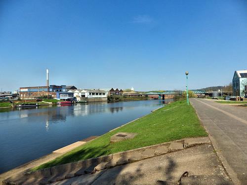 River Trent, approaching Lady Bay bridge
