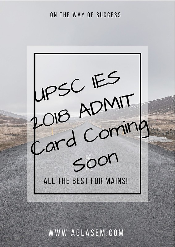 UPSC IES 2018 Admit Card for Main   Download Here ESE Admit Card