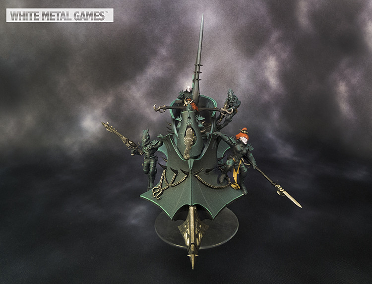 Drukhari Raider Silver Level White Metal Games Flickr