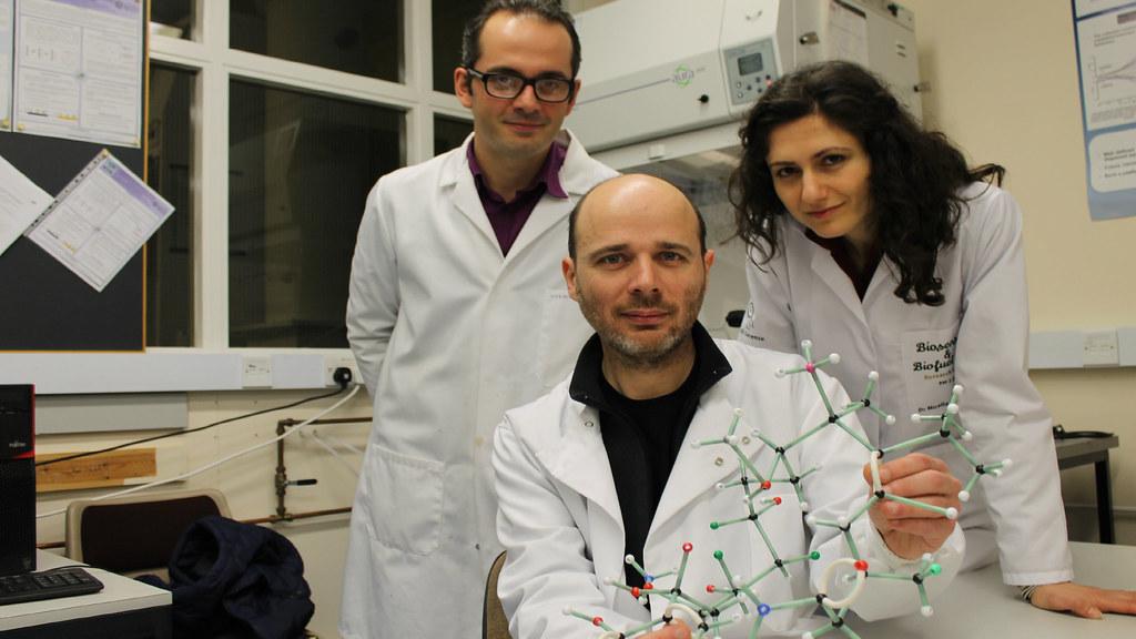 Dr Giordano Pula, Dr Pedro Estrela and Dr Mirella Di Lorenzo.