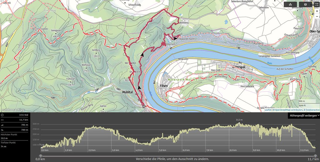 Klettersteig Map : Aufzeichnung der erweiterten tour mittelrhein klettersteigu flickr