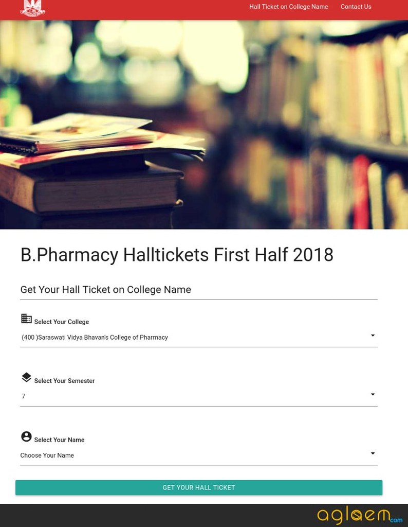 MU 2018 Hall Ticket