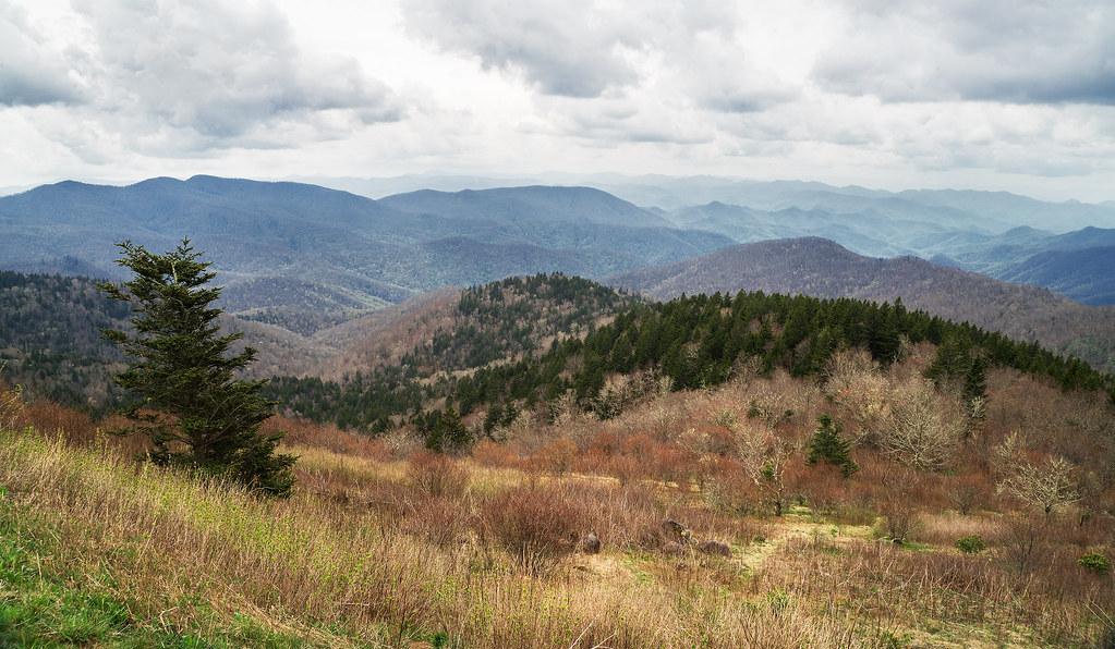 High elevation mountain overlook