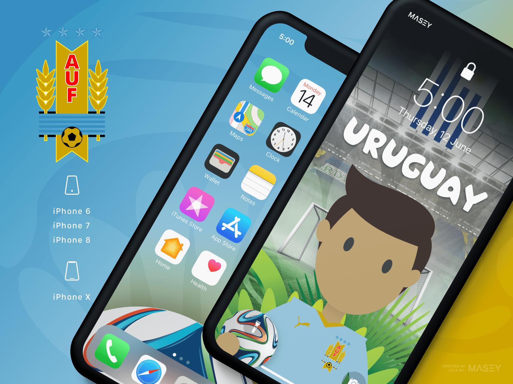 Team Uruguay iPhone Wallpaper