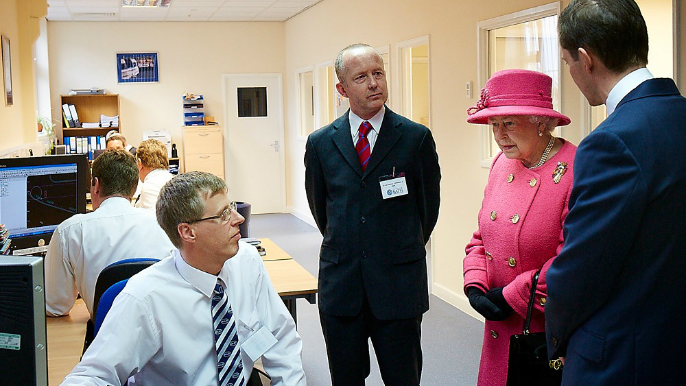 Dr Jos Darling (centre) meets the Queen during her visit in Bristol.