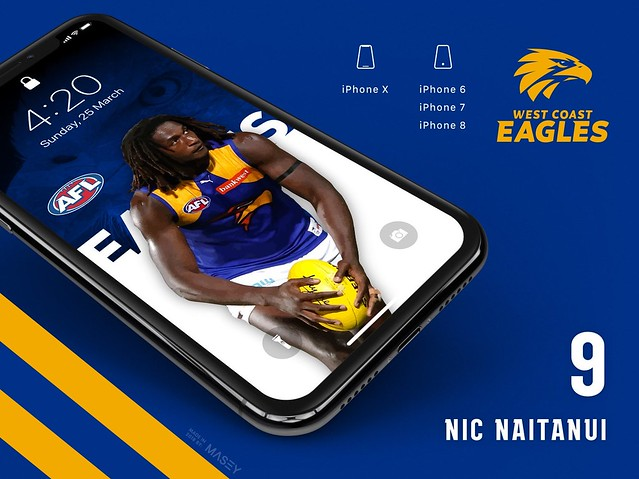 Nic Naitanui (West Coast Eagles) iPhone Wallpaper