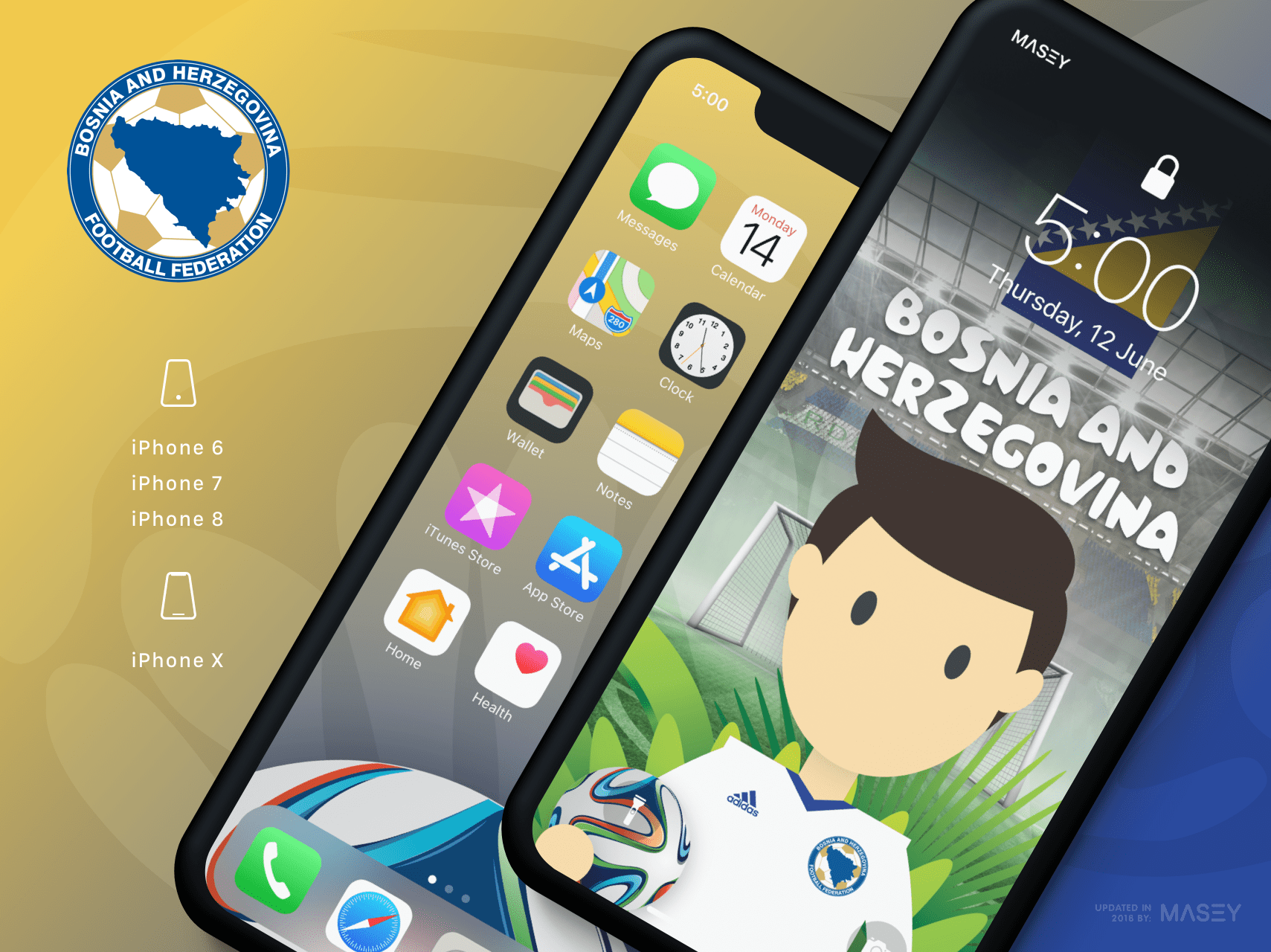 Team Bosnia & Herzegovina iPhone Wallpaper