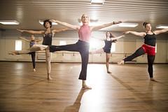 Modern Dance class students