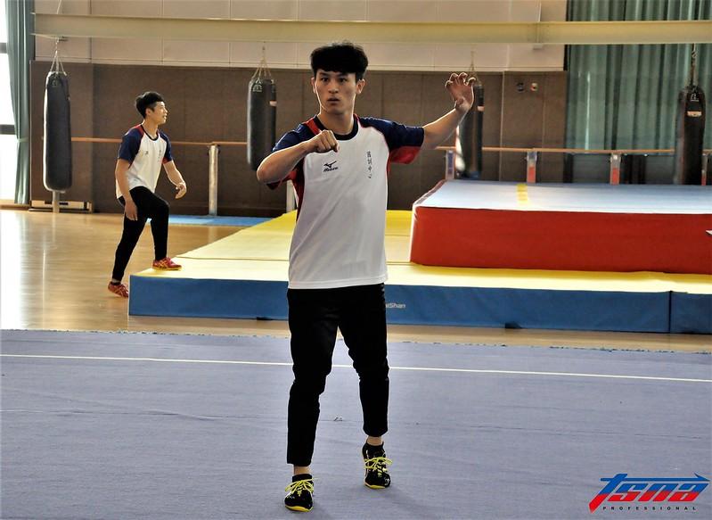 賴柏瑋期待在5月26日選拔賽順利搶到亞運資格。(張哲郢/攝)