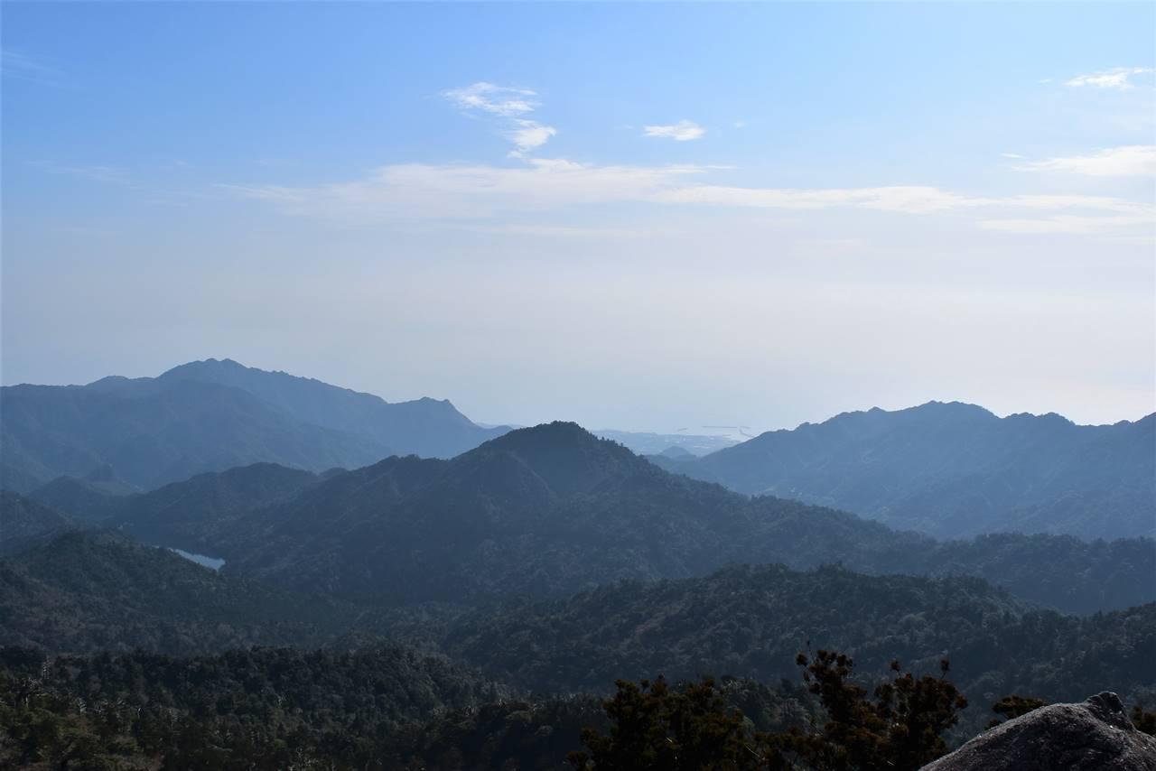 太忠岳から海の展望