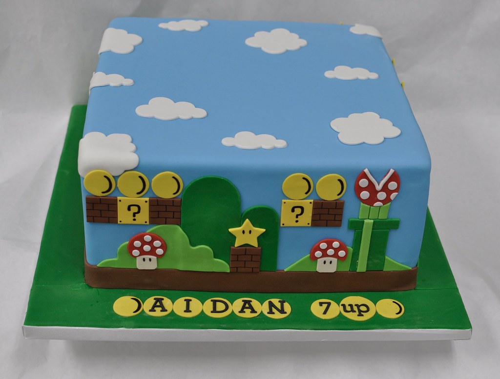 Mario Bros Birthday Cake Jenny Wenny Flickr