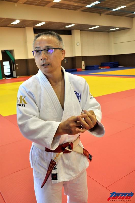 柔道總教練劉文等表示連珍羚是柔道的奪金希望。(張哲郢/攝)