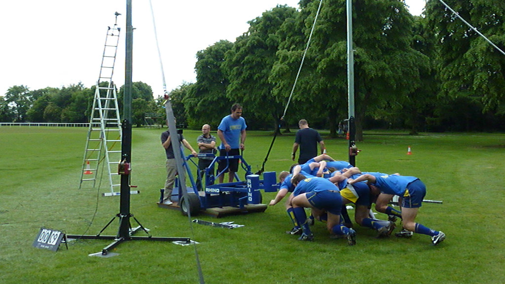 The rig with members of the scrum