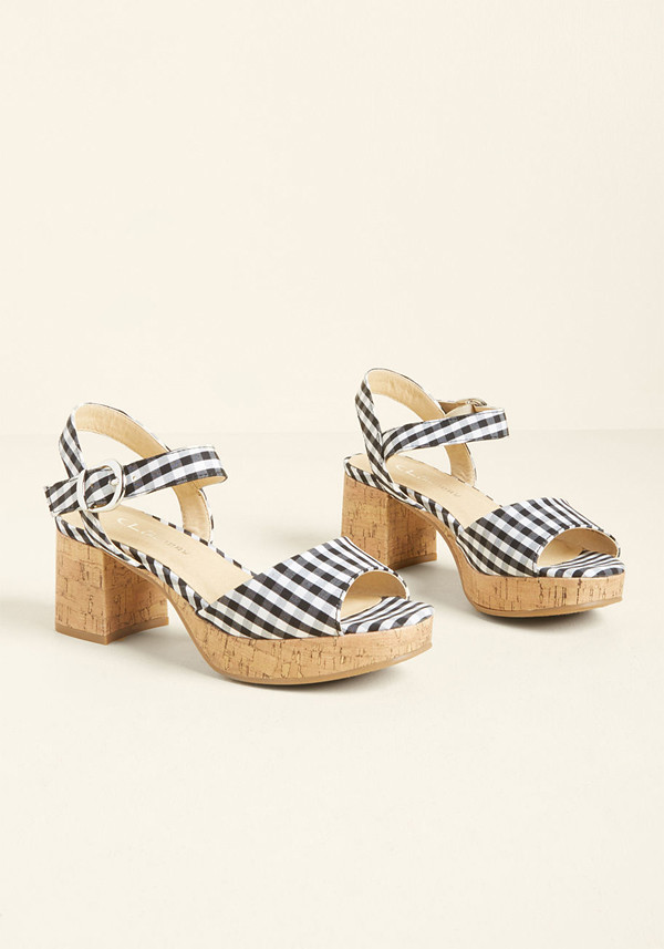 gingham sandals modcloth