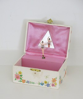 Vintage Jewelry Box with Spinning Ballerina Made in Japa Flickr