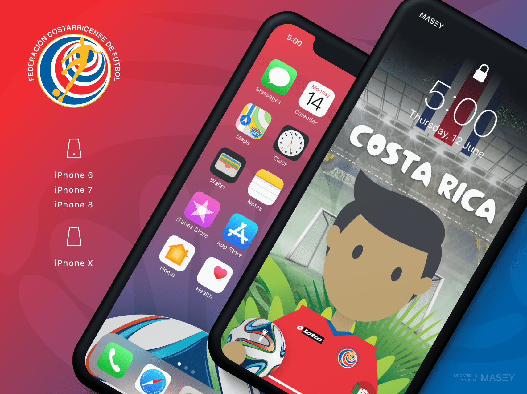 Team Costa Rica iPhone Wallpaper