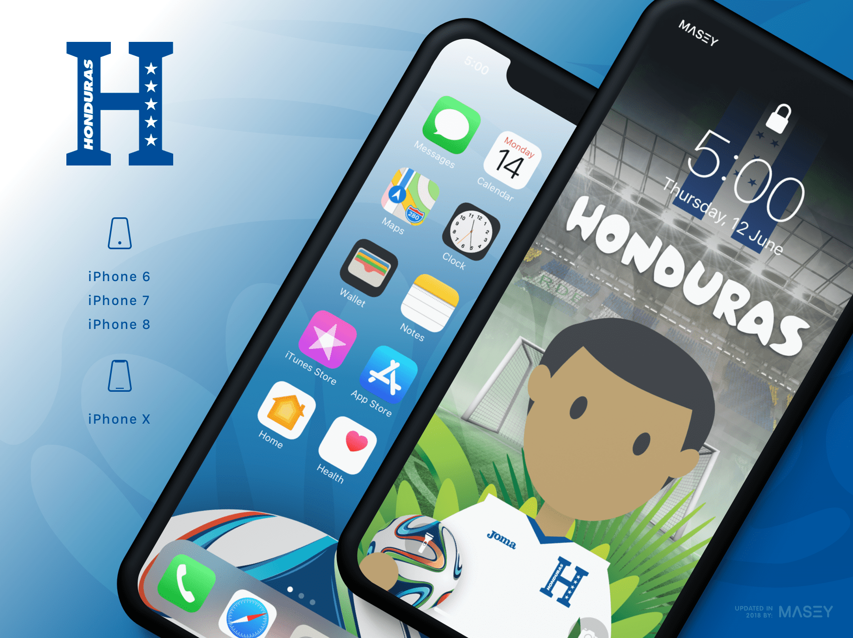 Team Honduras iPhone Wallpaper