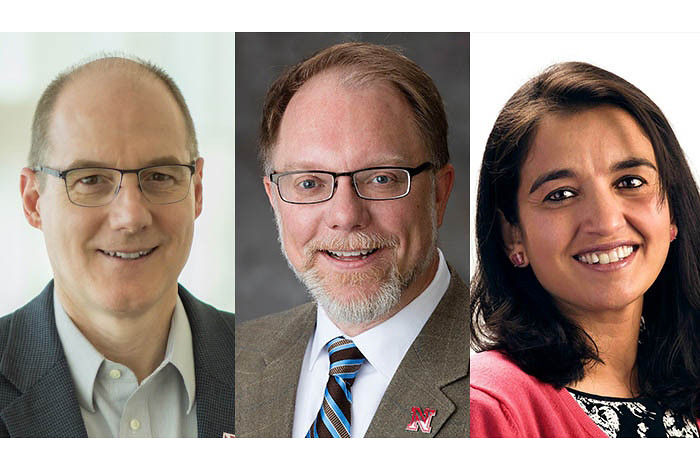 Ken Bayles, Ph.D., of UNMC; Mark Riley, Ph.D., of the University of Nebraska-Lincoln; and Harshini Mukundan