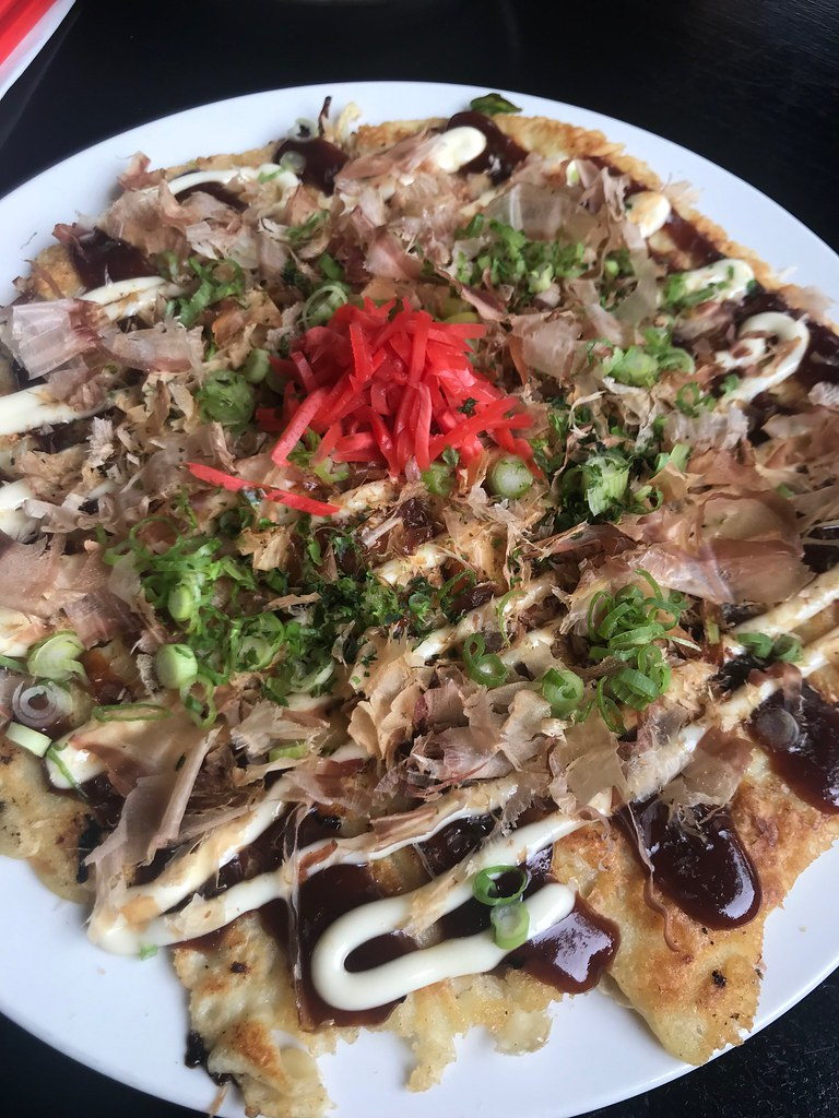 okonomiyake with pickled ginger