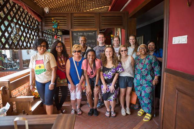 The Auburn University team in Ghana